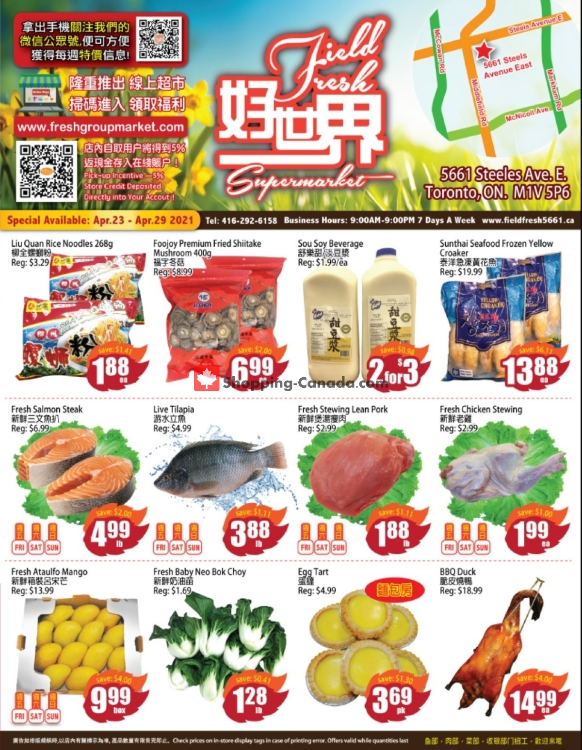 Flyer Field Fresh Supermarket Canada - from Friday April 23, 2021 to Thursday April 29, 2021