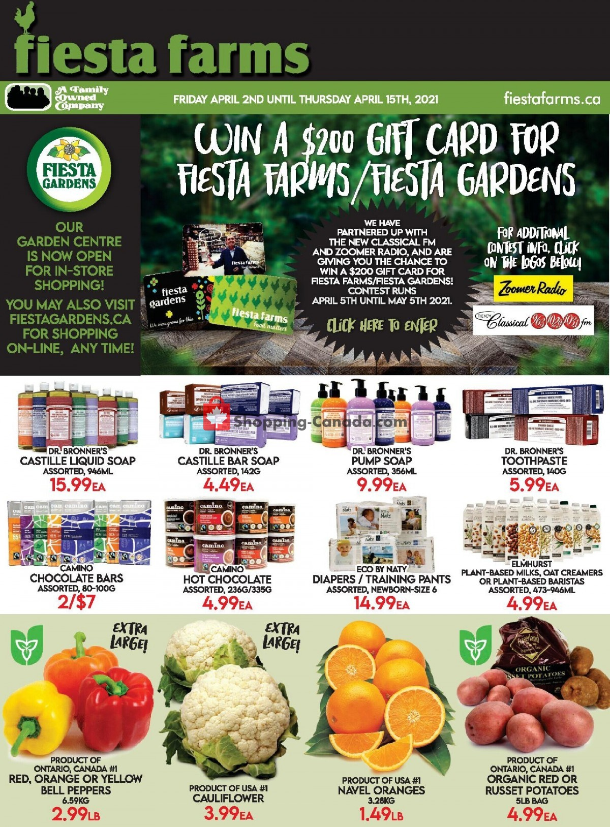 Flyer Fiesta Farms Canada - from Friday April 2, 2021 to Thursday April 15, 2021