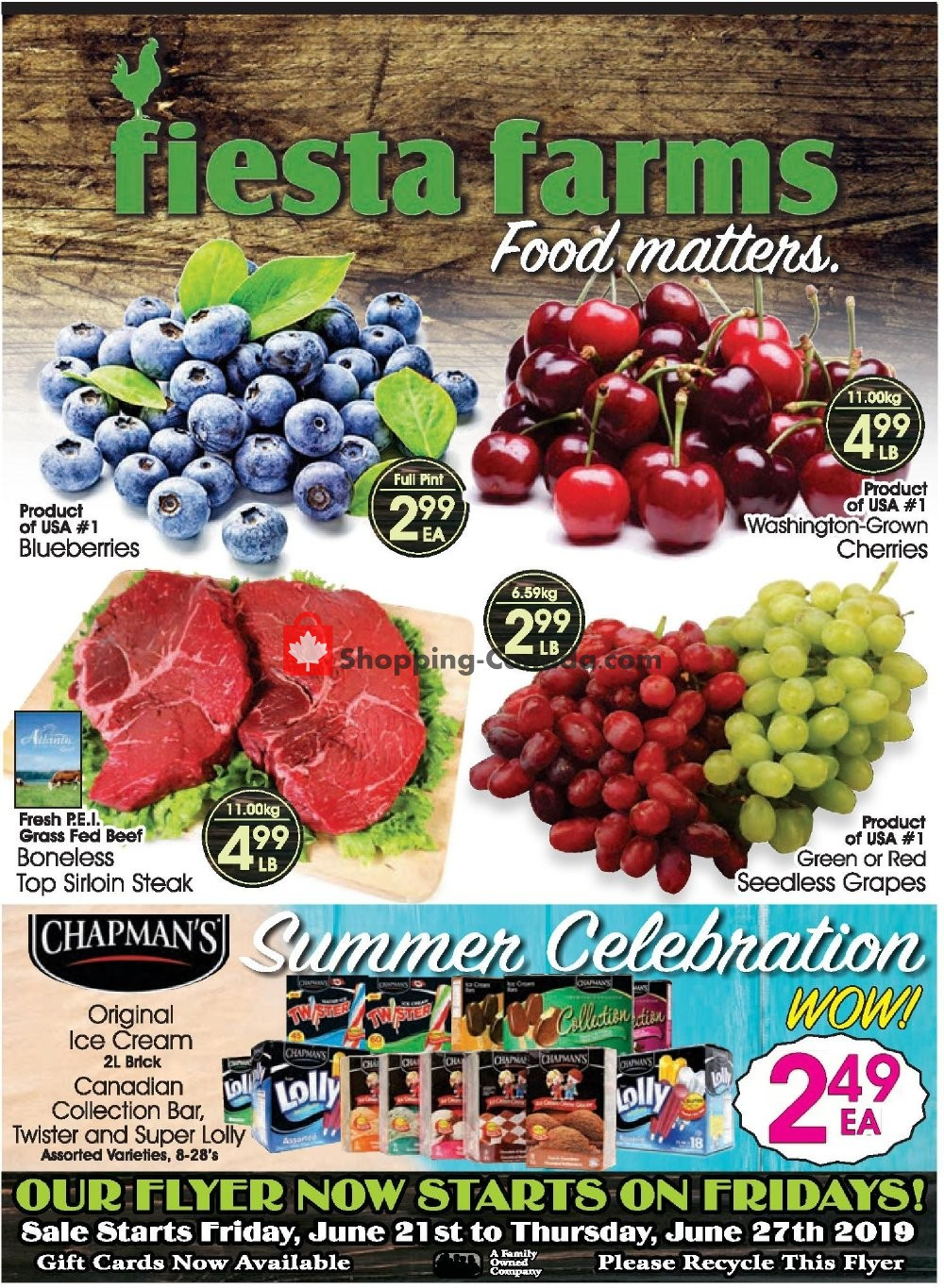 Flyer Fiesta Farms Canada - from Friday June 21, 2019 to Thursday June 27, 2019