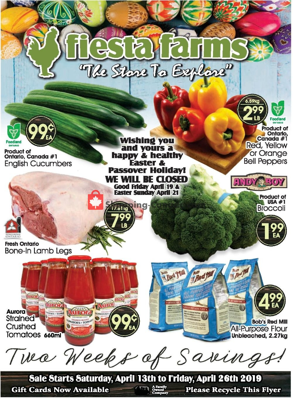 Flyer Fiesta Farms Canada - from Saturday April 13, 2019 to Friday April 26, 2019