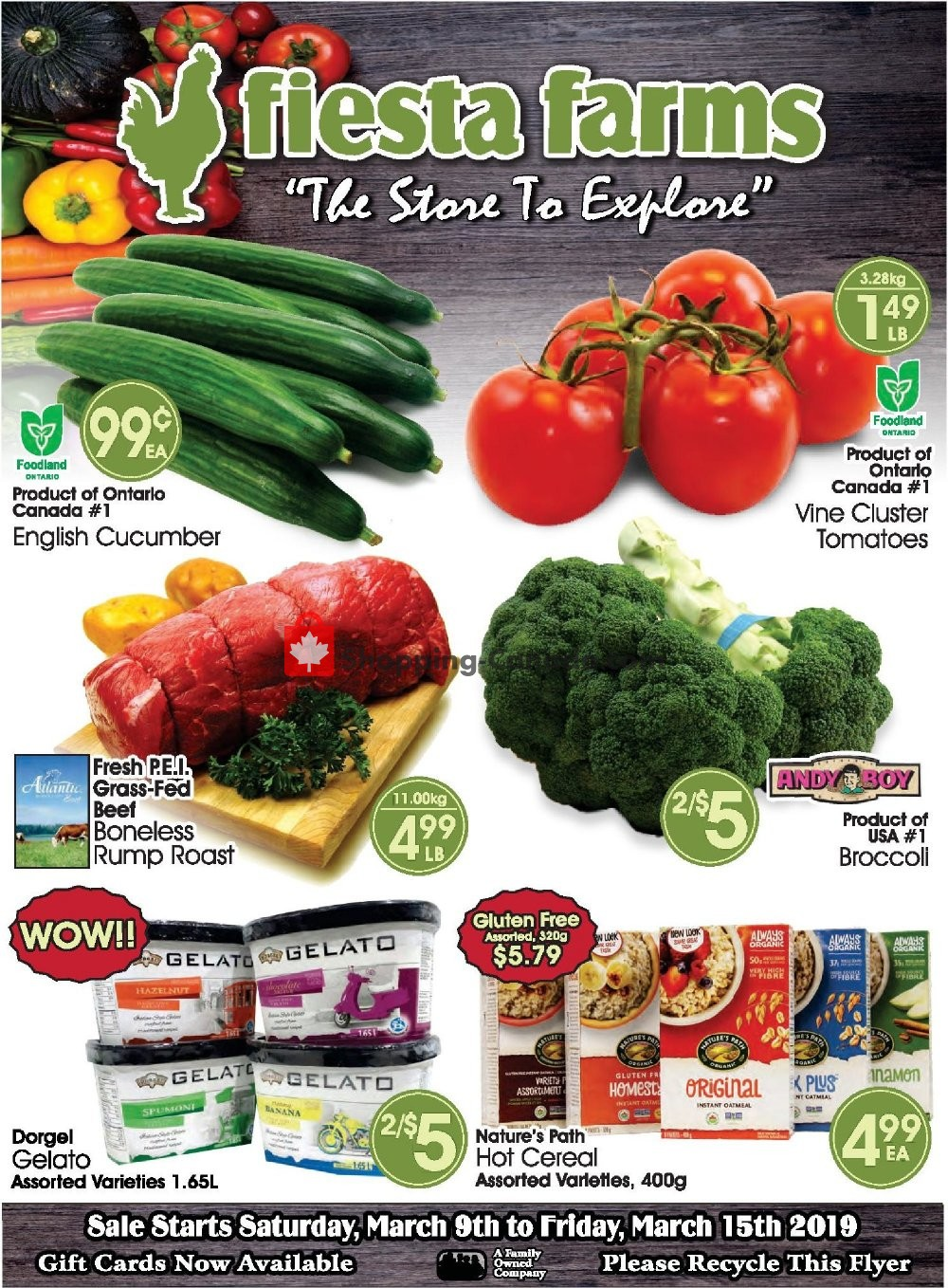 Flyer Fiesta Farms Canada - from Saturday March 9, 2019 to Friday March 15, 2019