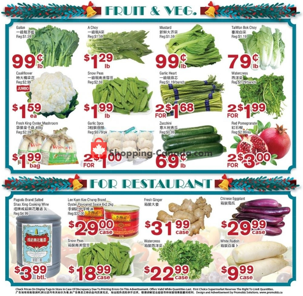 Flyer First Choice Supermarket Canada - from Friday January 10, 2020 to Thursday January 16, 2020