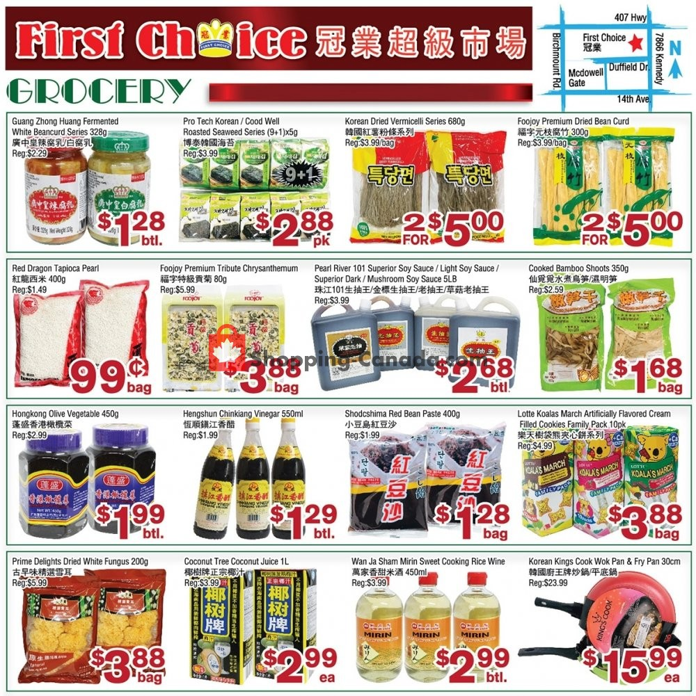 Flyer First Choice Supermarket Canada - from Friday August 9, 2019 to Thursday August 15, 2019