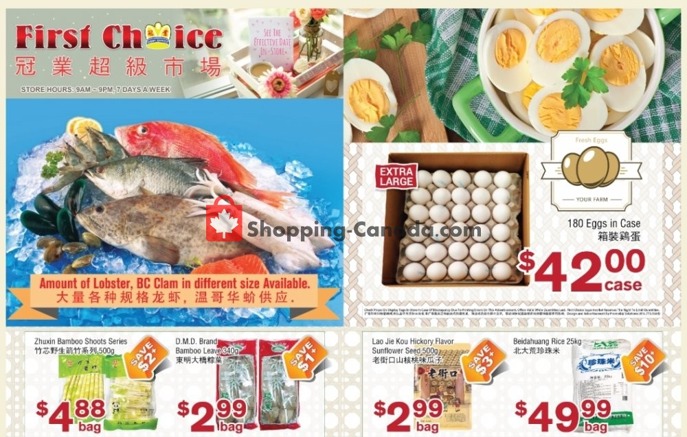 Flyer First Choice Supermarket Canada - from Friday May 22, 2020 to Thursday May 28, 2020