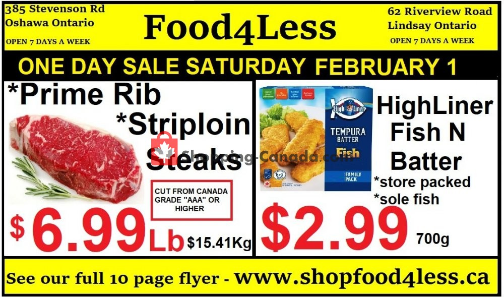 Flyer Food 4 Less Canada - from Friday January 31, 2020 to Thursday February 6, 2020