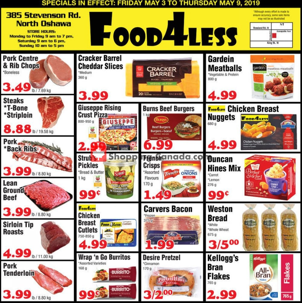 Flyer Food 4 Less Canada - from Friday May 3, 2019 to Thursday May 9, 2019