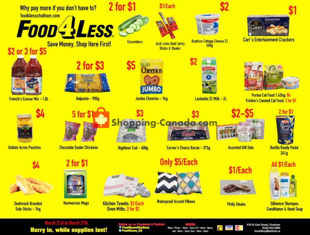 Flyer Food 4 Less Canada - from Friday June 21, 2019 to Thursday June 27, 2019