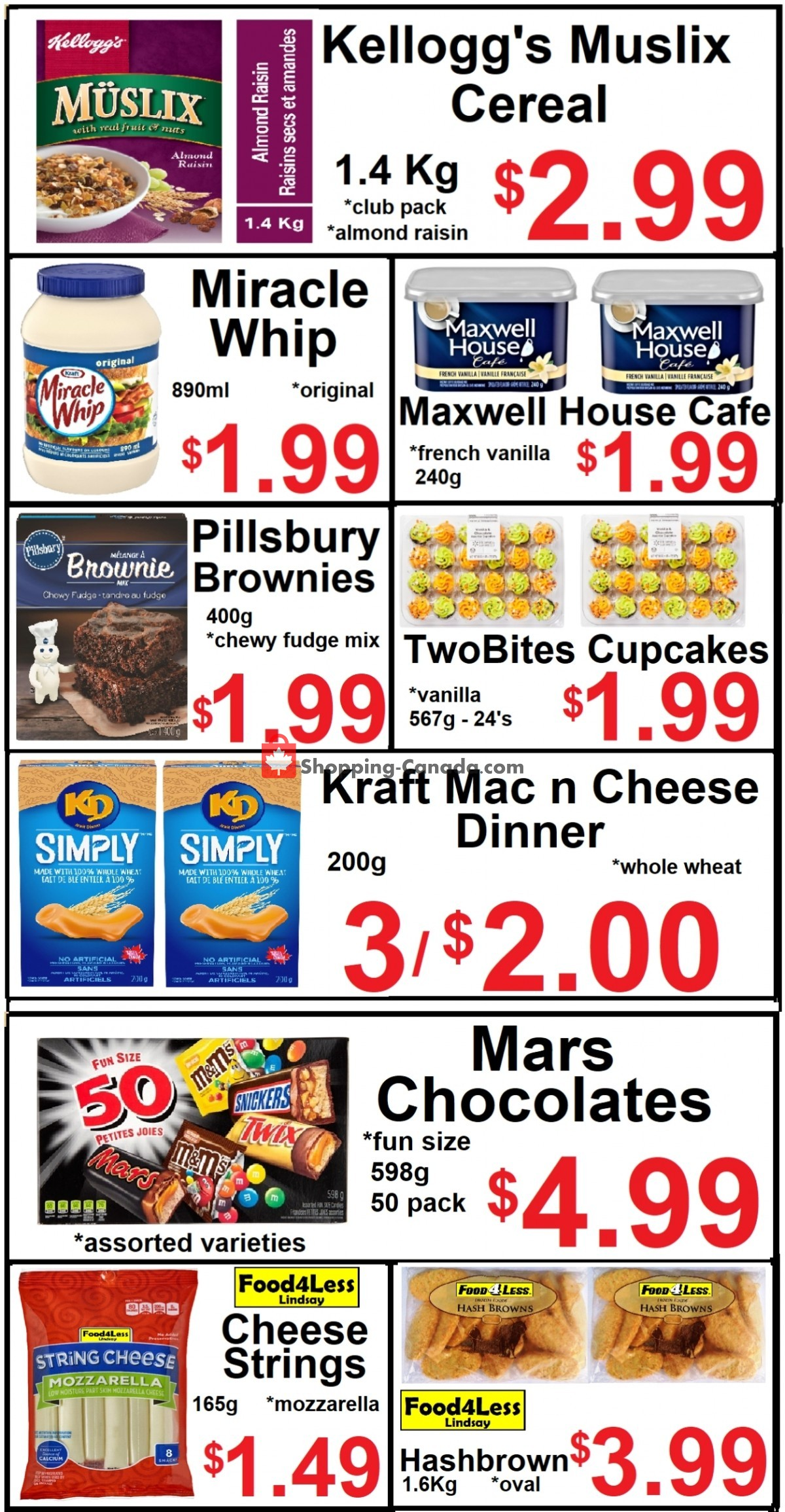 Flyer Food 4 Less Canada - from Friday March 26, 2021 to Thursday April 1, 2021