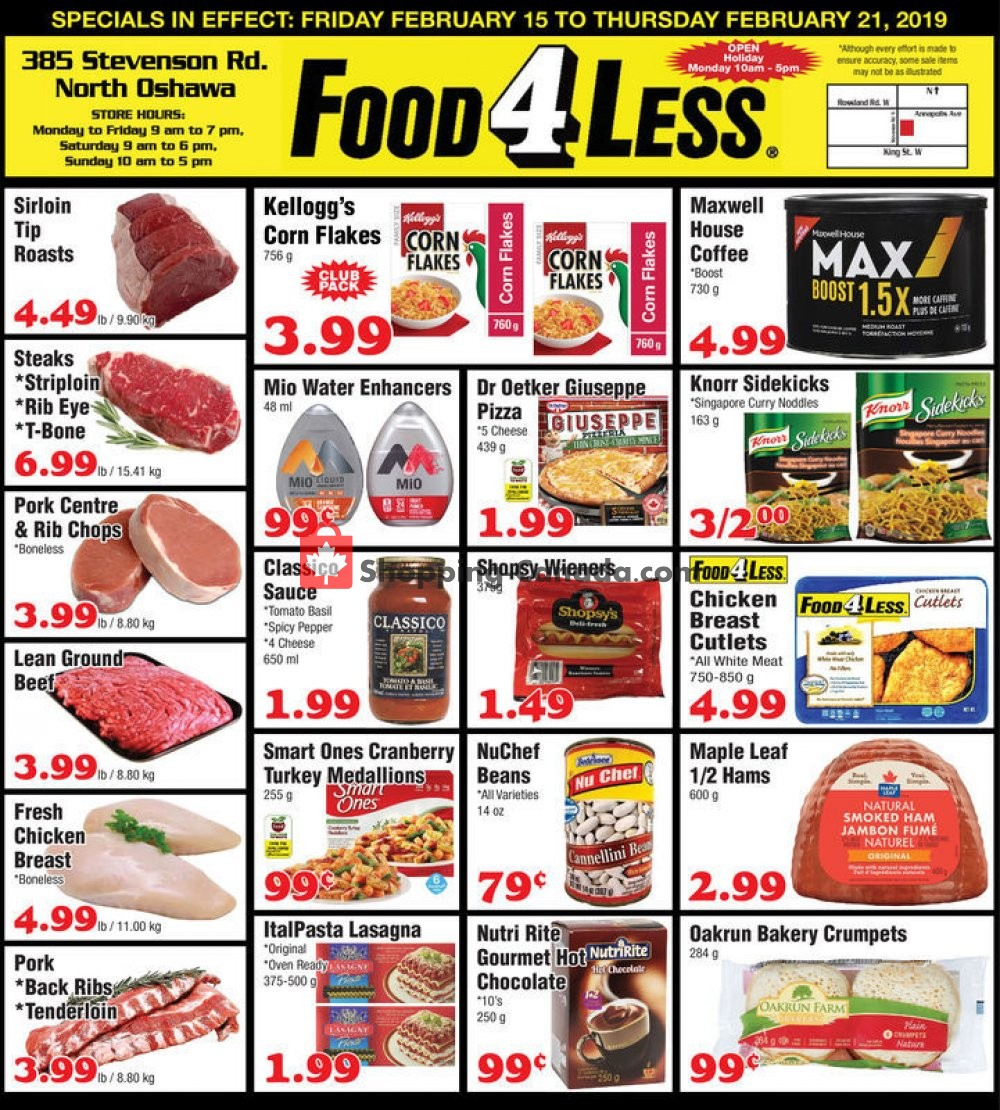 Flyer Food 4 Less Canada - from Friday February 15, 2019 to Thursday February 21, 2019