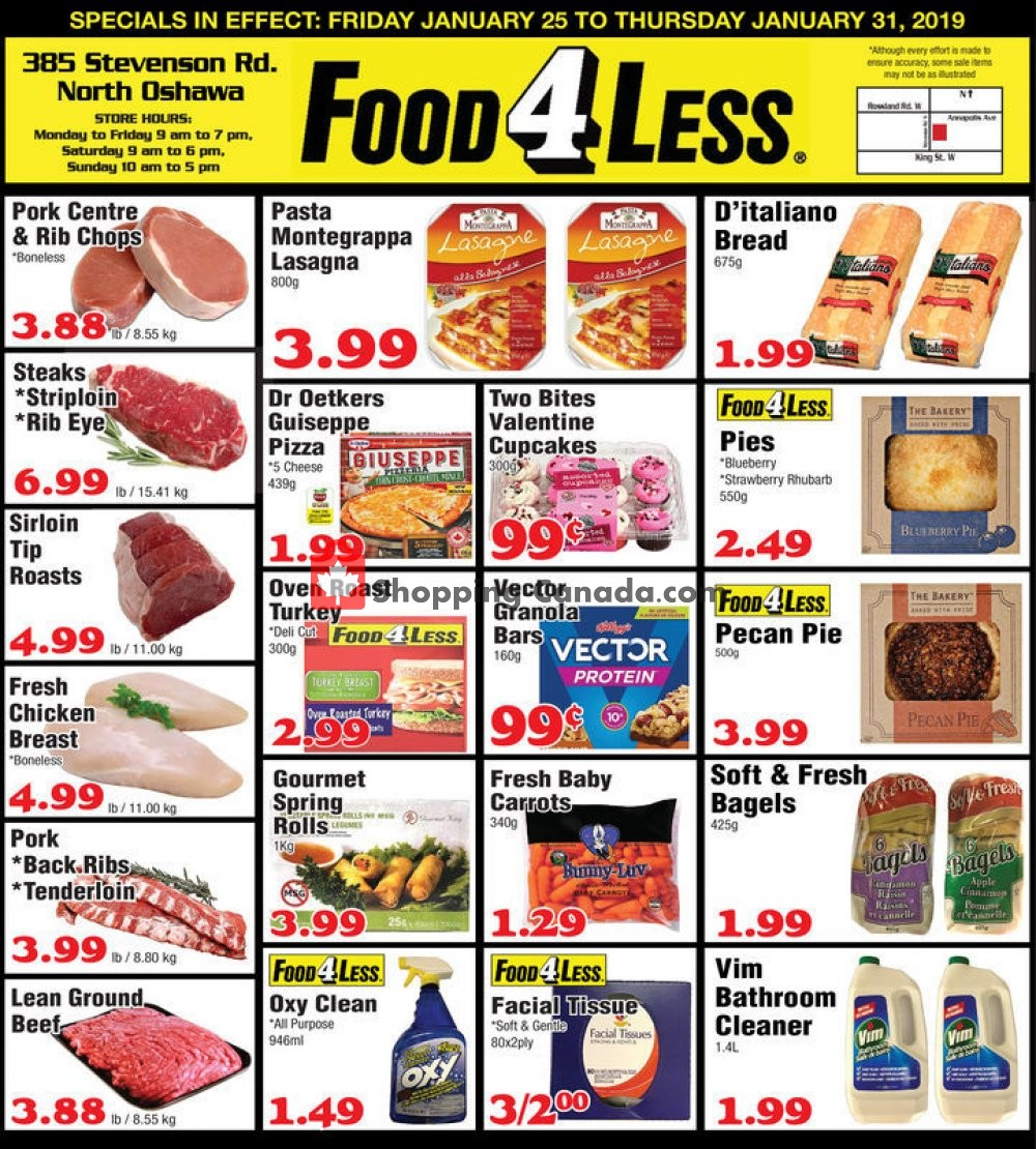 Flyer Food 4 Less Canada - from Friday January 25, 2019 to Thursday January 31, 2019