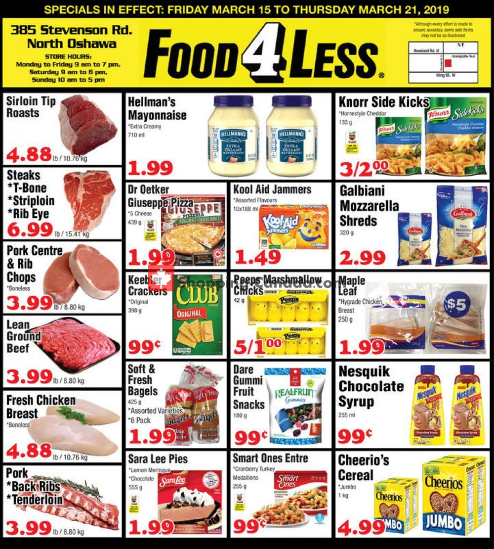 Flyer Food 4 Less Canada - from Friday March 15, 2019 to Thursday March 21, 2019