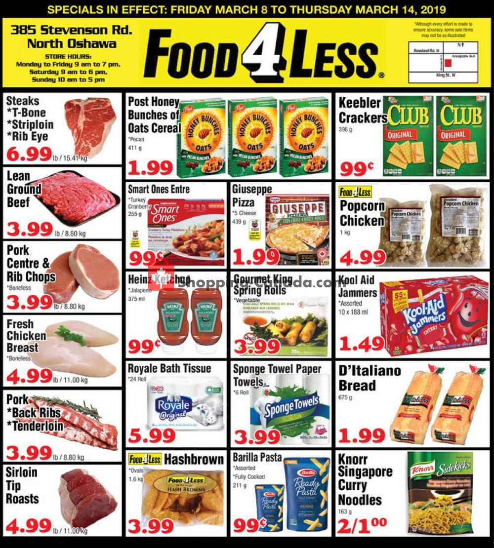 Flyer Food 4 Less Canada - from Friday March 8, 2019 to Thursday March 14, 2019