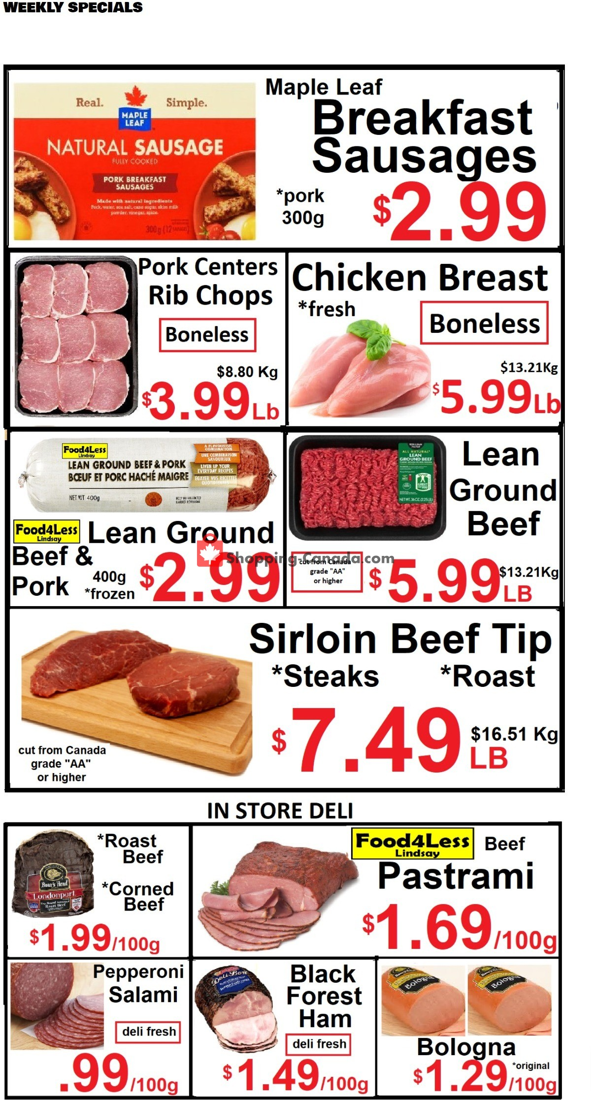Flyer Food 4 Less Canada - from Friday October 8, 2021 to Thursday October 14, 2021