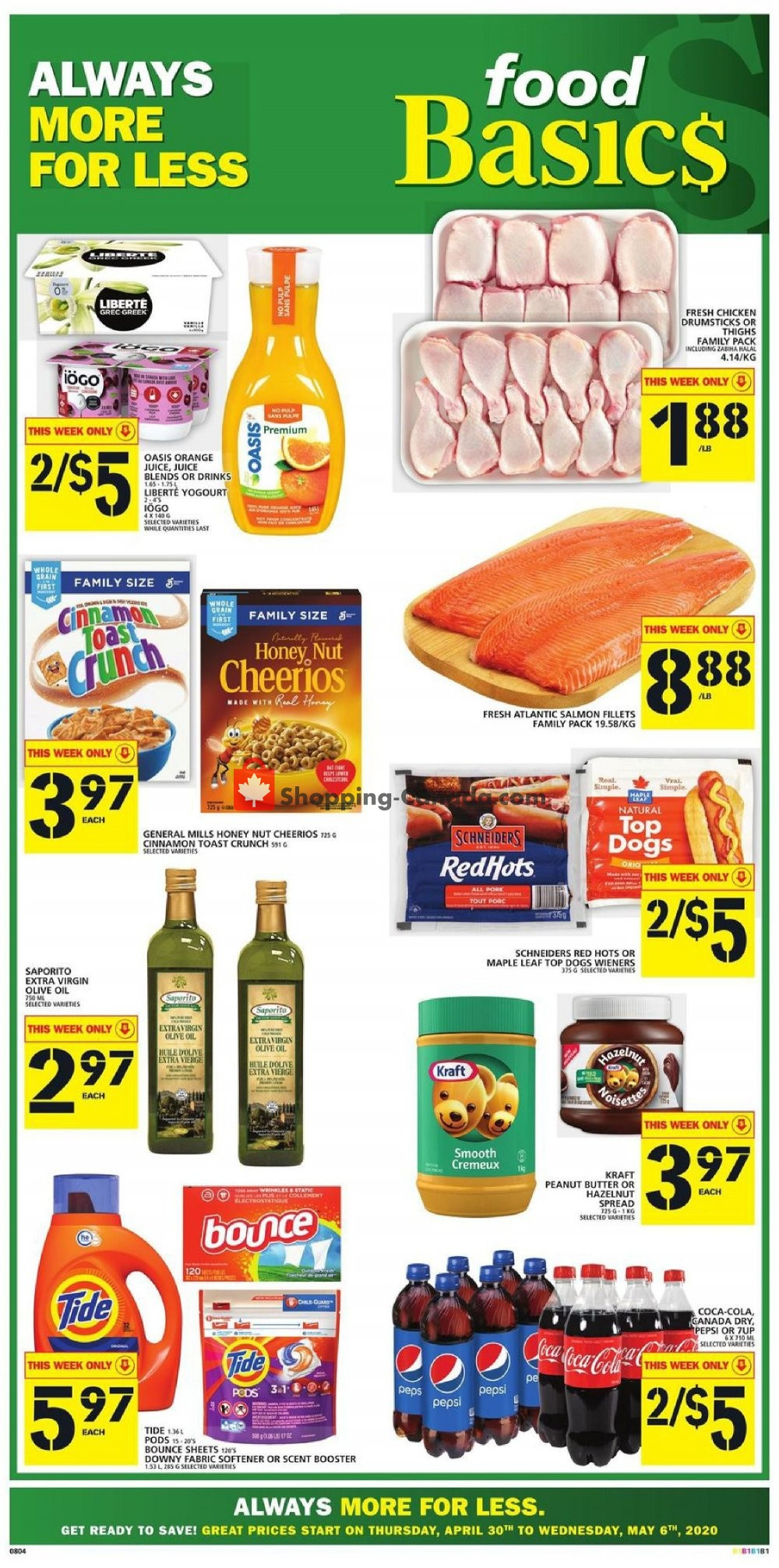 Flyer Food Basics Canada - from Thursday April 30, 2020 to Wednesday May 6, 2020
