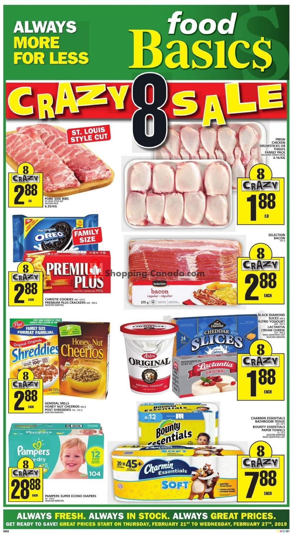 Flyer Food Basics Canada - from Thursday February 21, 2019 to Wednesday February 27, 2019