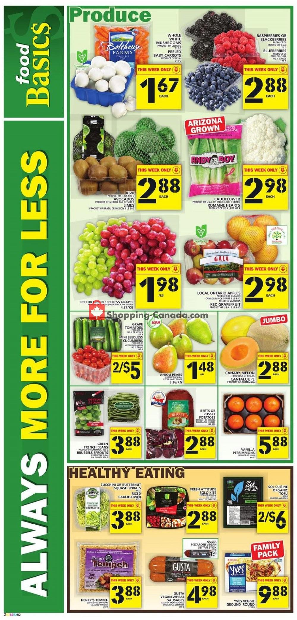 Flyer Food Basics Canada - from Thursday January 9, 2020 to Wednesday January 15, 2020