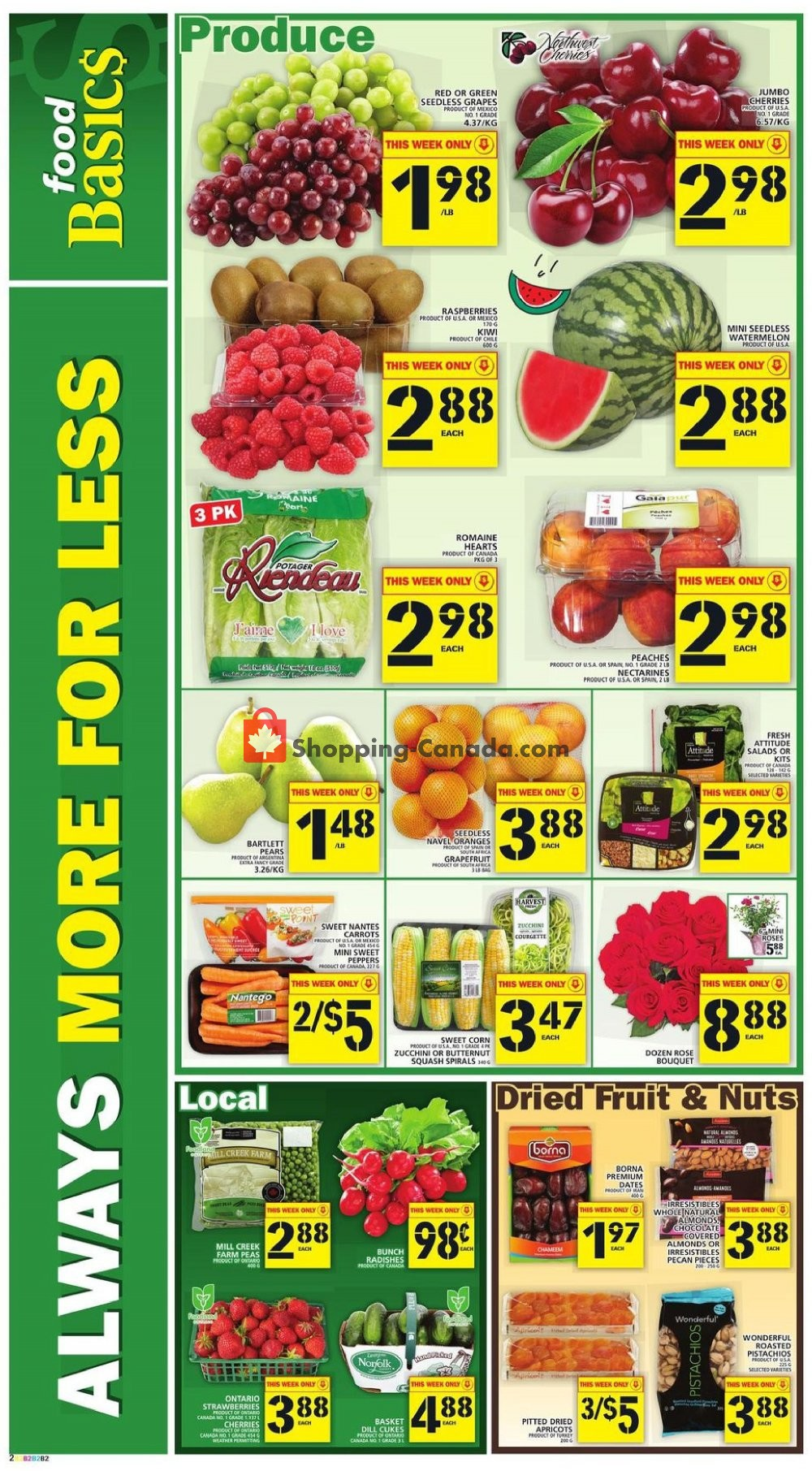 Flyer Food Basics Canada - from Thursday July 11, 2019 to Wednesday July 17, 2019