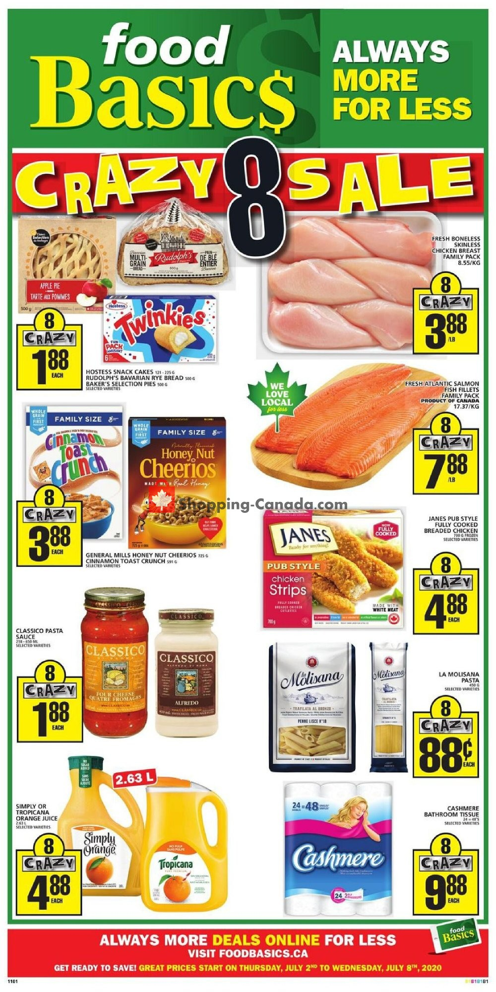 Flyer Food Basics Canada - from Thursday July 2, 2020 to Wednesday July 8, 2020