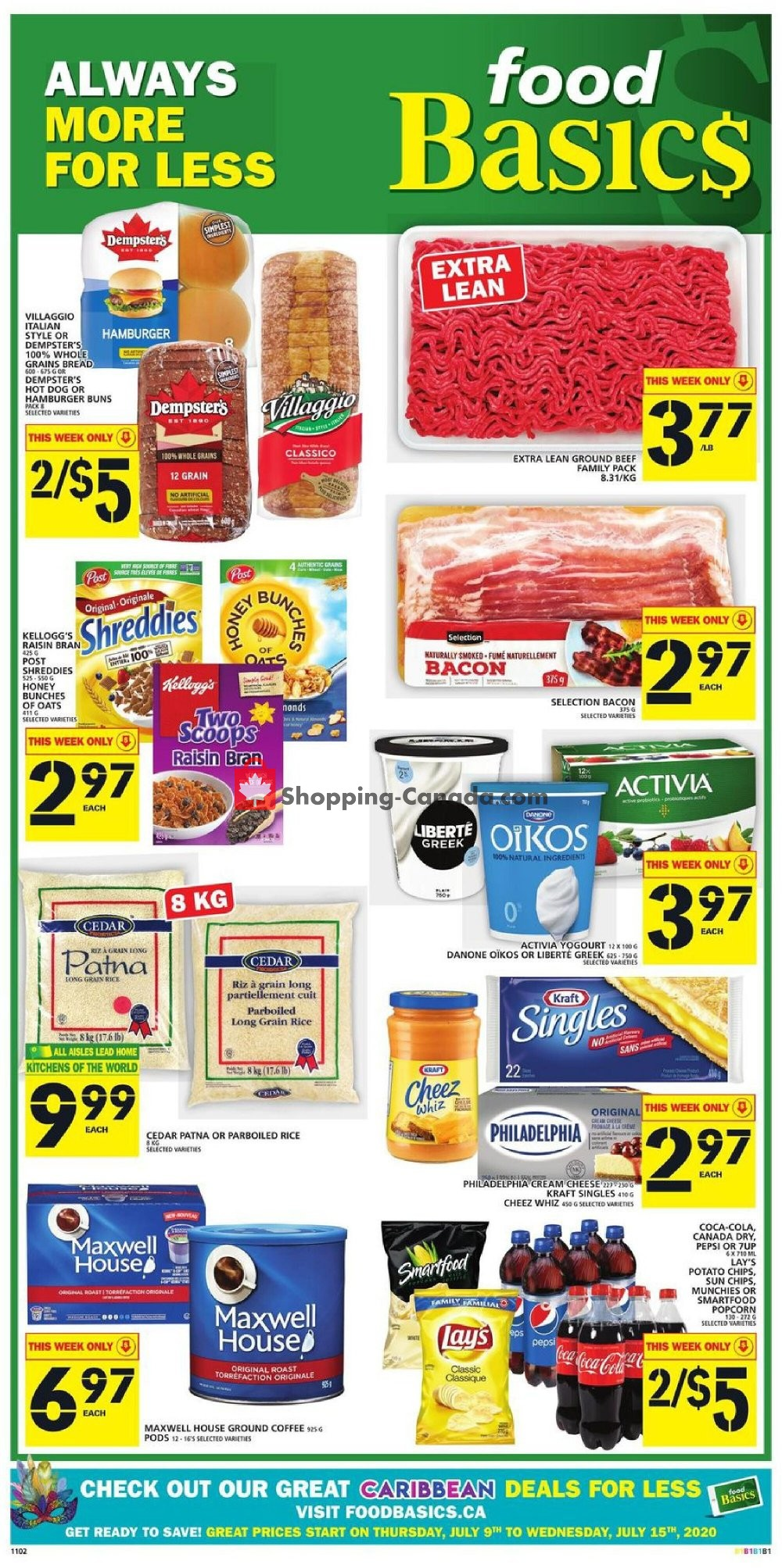 Flyer Food Basics Canada - from Thursday July 9, 2020 to Wednesday July 15, 2020