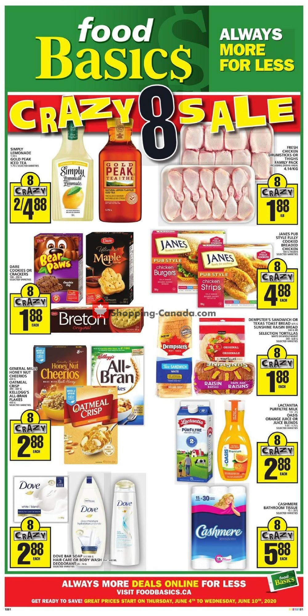 Flyer Food Basics Canada - from Thursday June 4, 2020 to Wednesday June 10, 2020