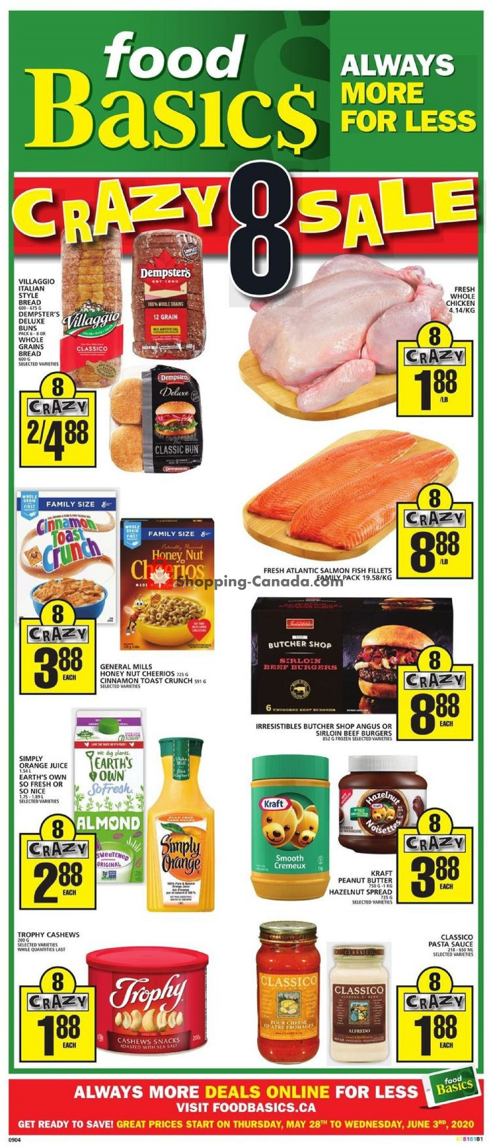Flyer Food Basics Canada - from Thursday May 28, 2020 to Wednesday June 3, 2020