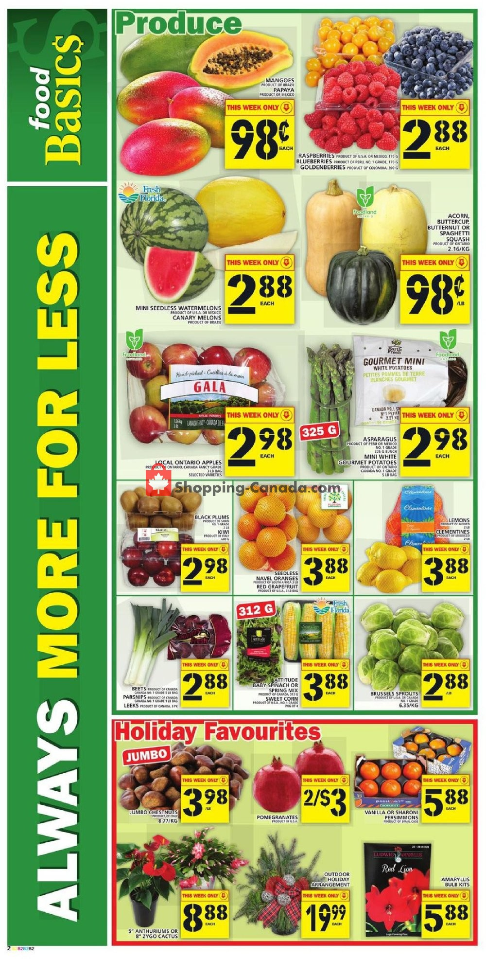 Flyer Food Basics Canada - from Thursday November 7, 2019 to Wednesday November 13, 2019
