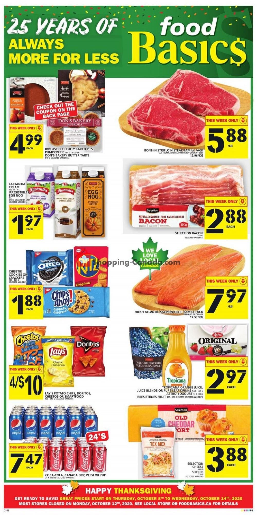 Flyer Food Basics Canada - from Thursday October 8, 2020 to Wednesday October 14, 2020