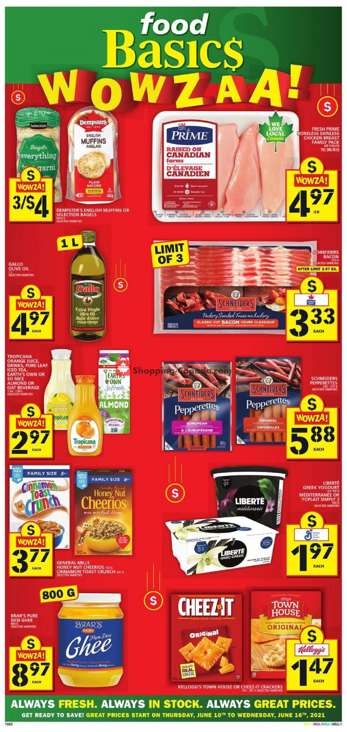 Flyer Food Basics Canada - from Thursday June 10, 2021 to Wednesday June 16, 2021