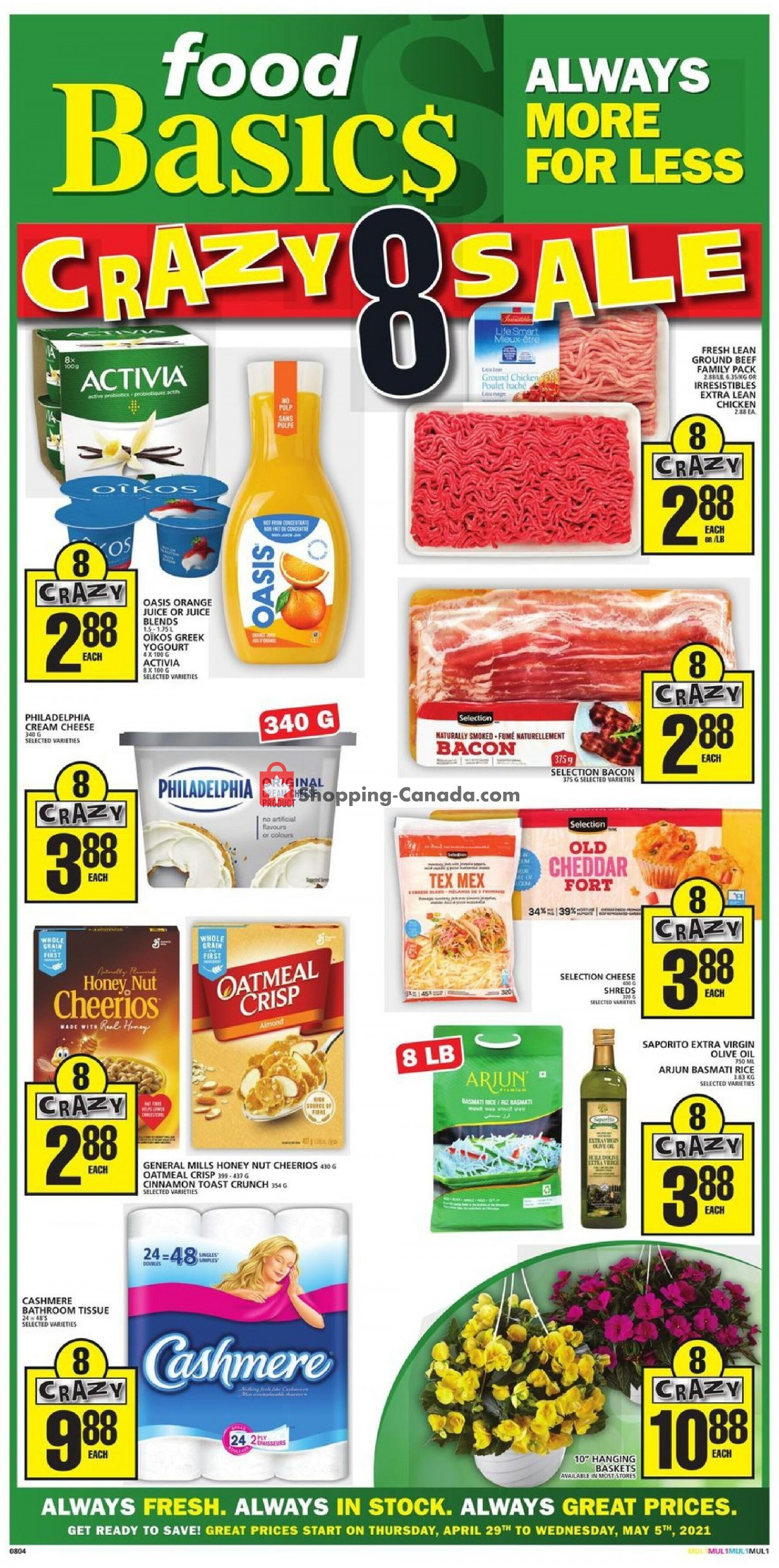 Flyer Food Basics Canada - from Thursday April 29, 2021 to Wednesday May 5, 2021