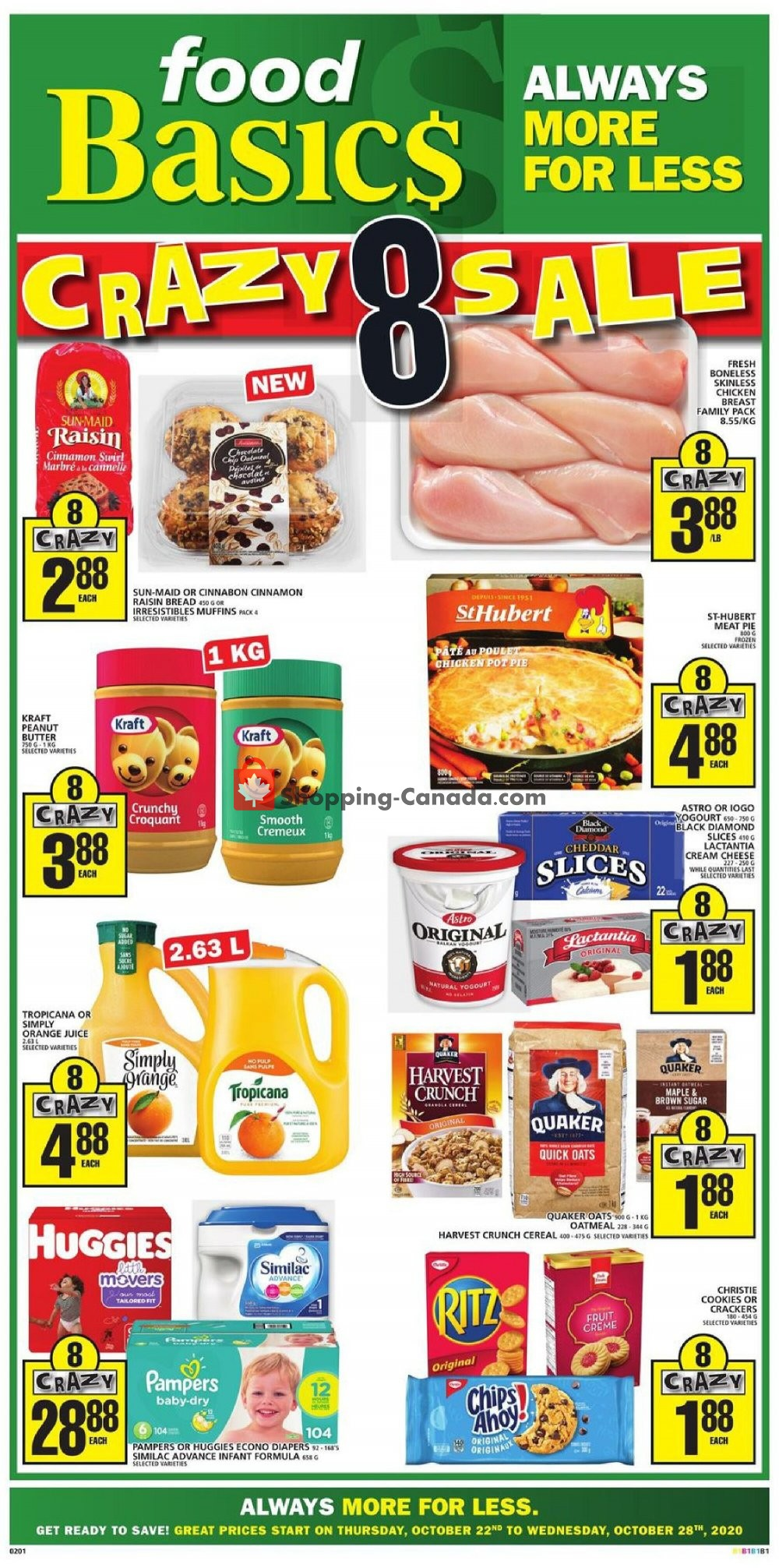 Flyer Food Basics Canada - from Thursday October 22, 2020 to Wednesday October 28, 2020