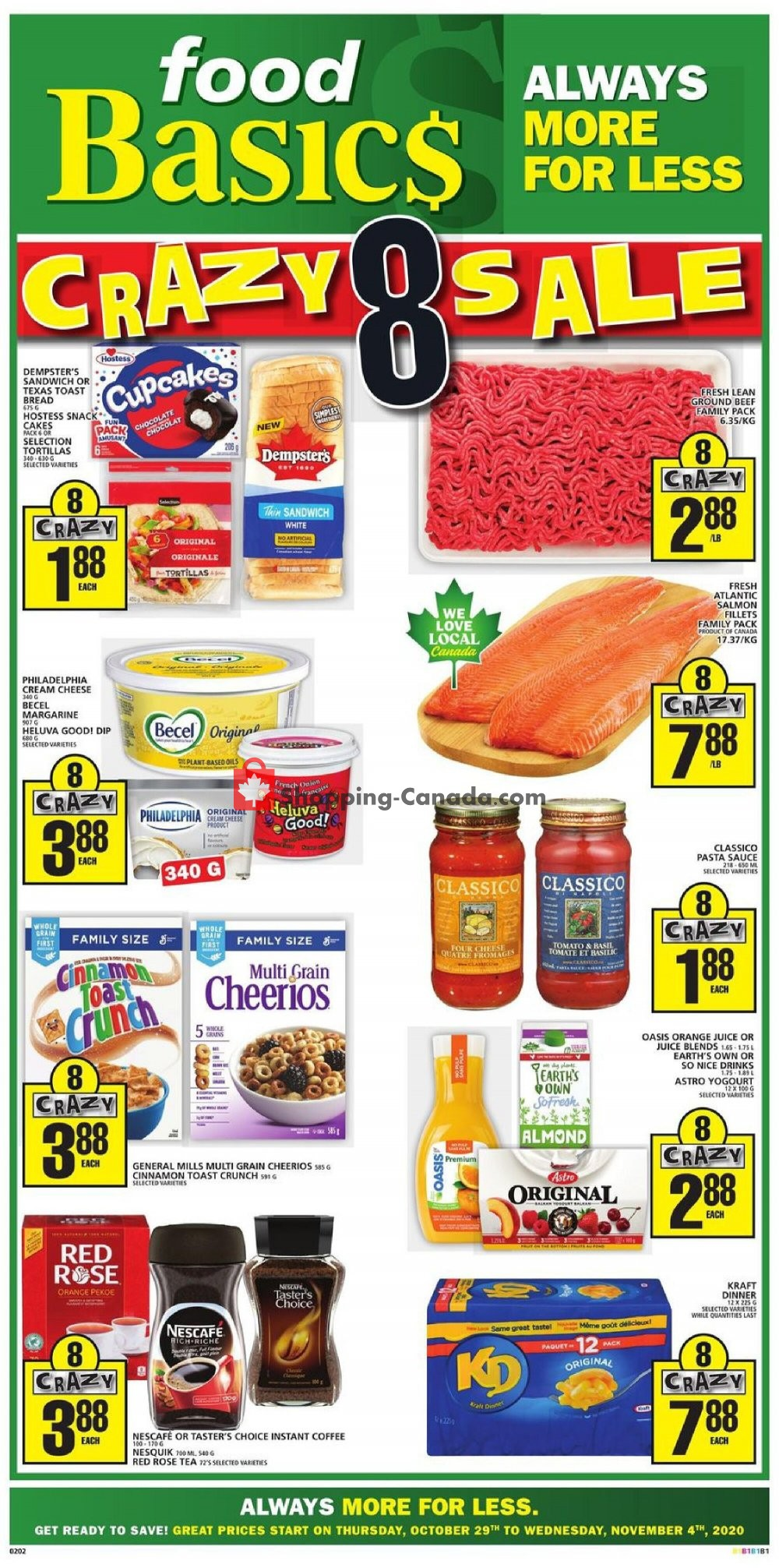 Flyer Food Basics Canada - from Thursday October 29, 2020 to Wednesday November 4, 2020