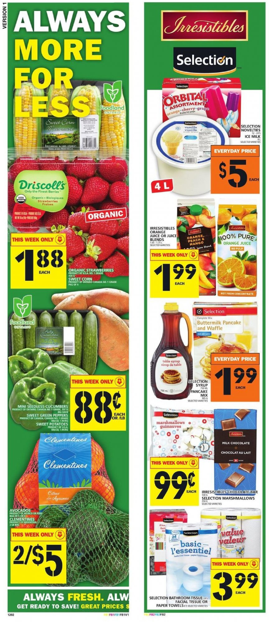 Flyer and weekly ads: Food Basics Canada - from Thursday, August 9