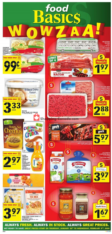 Flyer Food Basics Canada - from Thursday January 30, 2020 to Wednesday February 5, 2020
