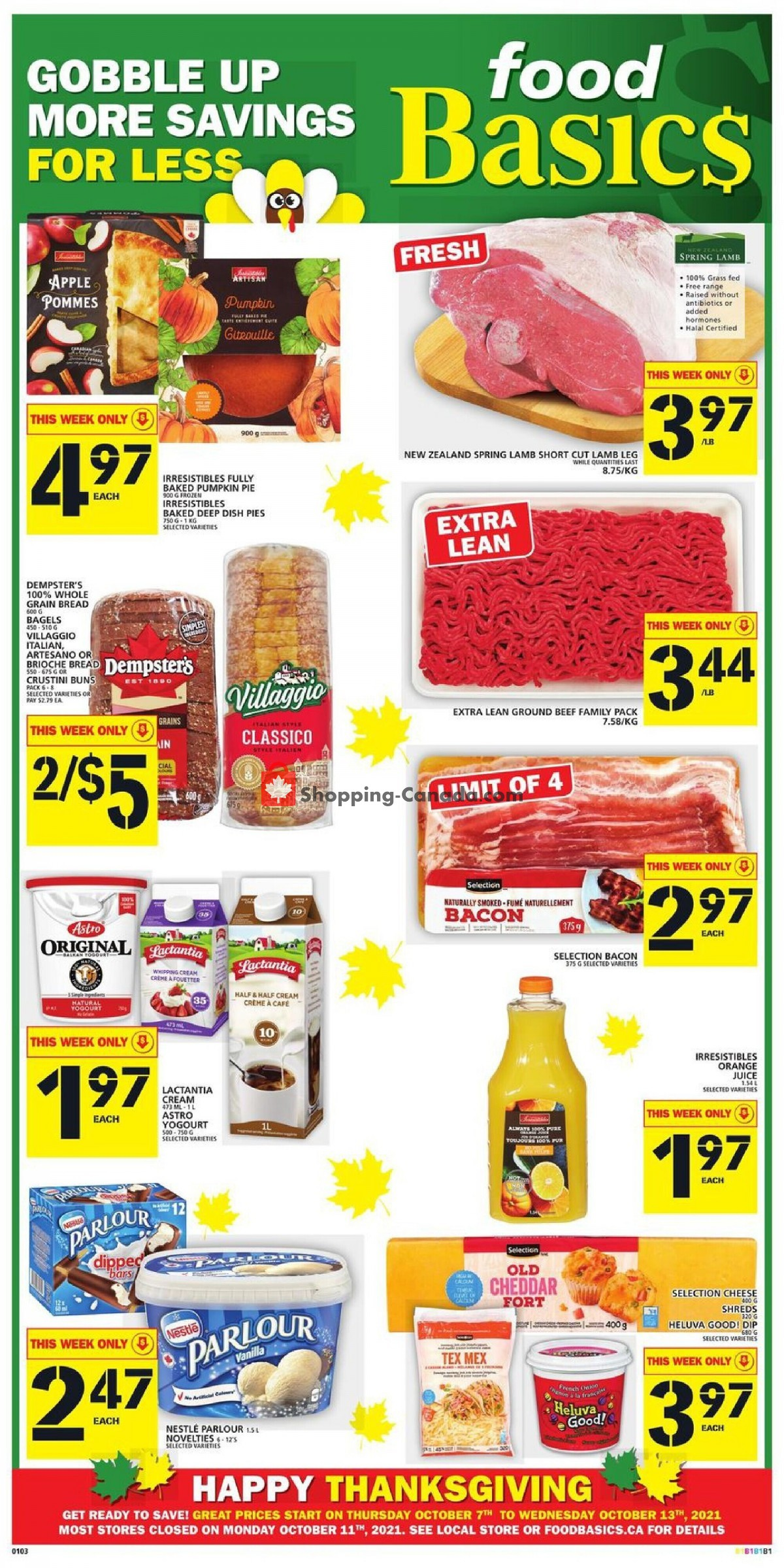 Flyer Food Basics Canada - from Thursday October 7, 2021 to Wednesday October 13, 2021