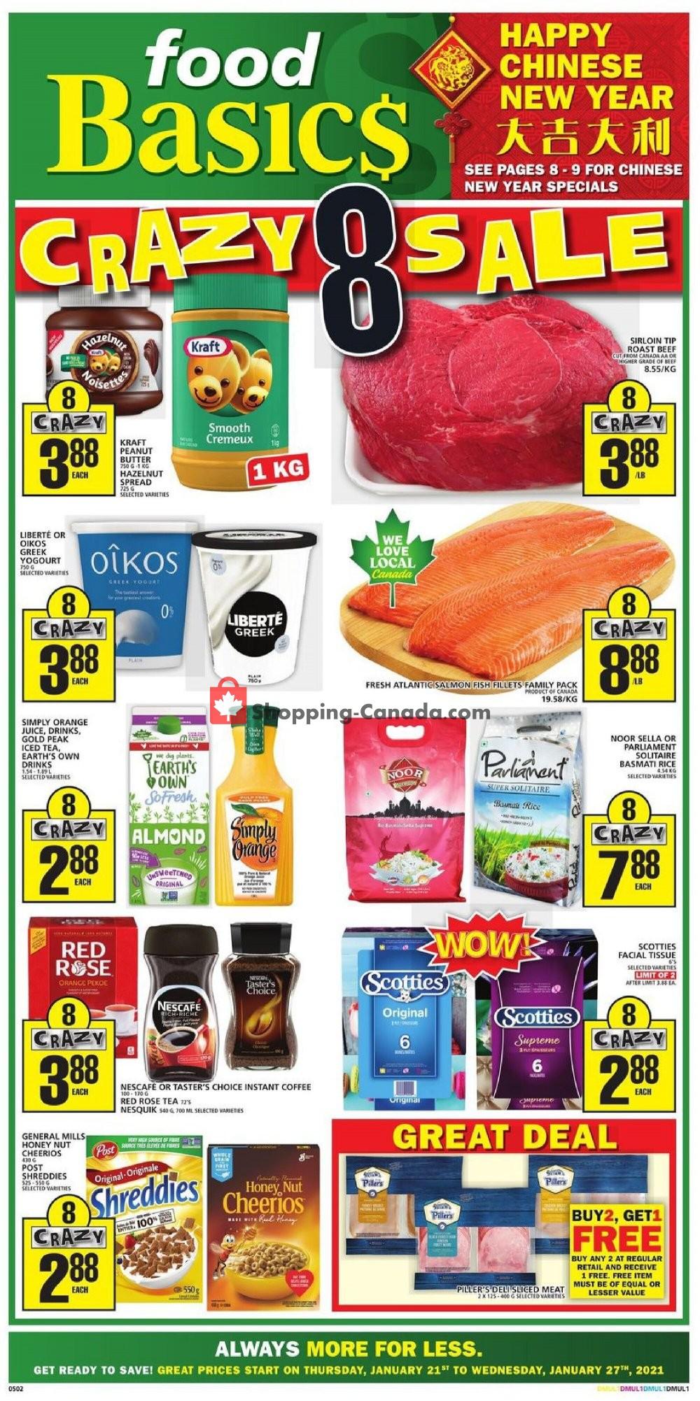 Flyer Food Basics Canada - from Thursday January 21, 2021 to Wednesday January 27, 2021