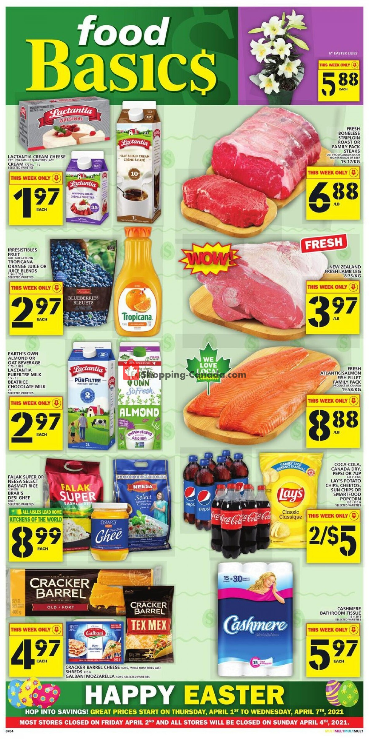 Flyer Food Basics Canada - from Thursday April 1, 2021 to Wednesday April 7, 2021