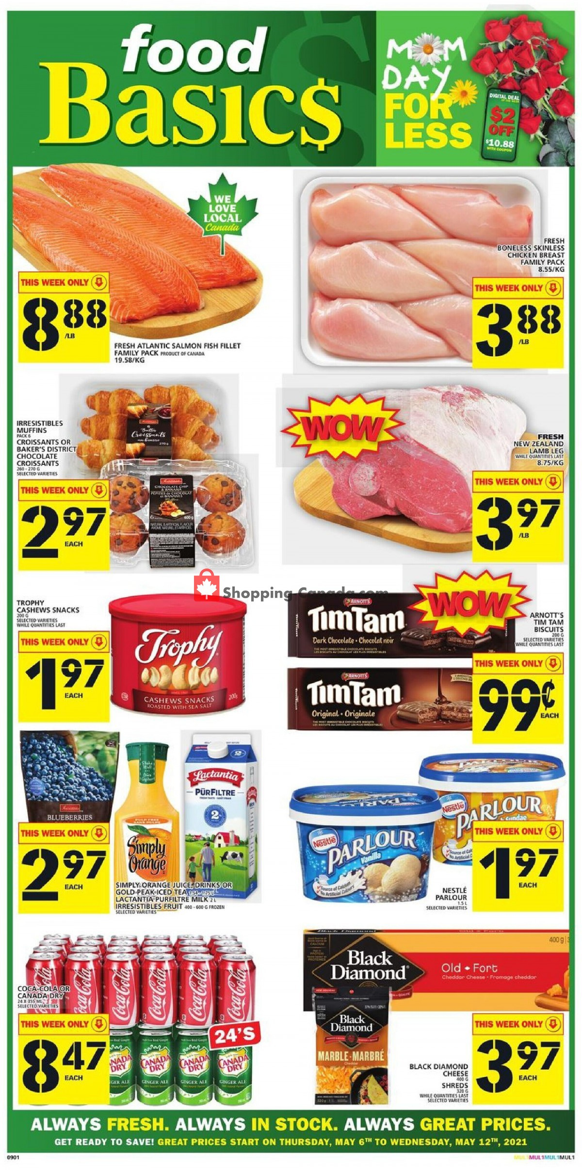 Flyer Food Basics Canada - from Thursday May 6, 2021 to Wednesday May 12, 2021