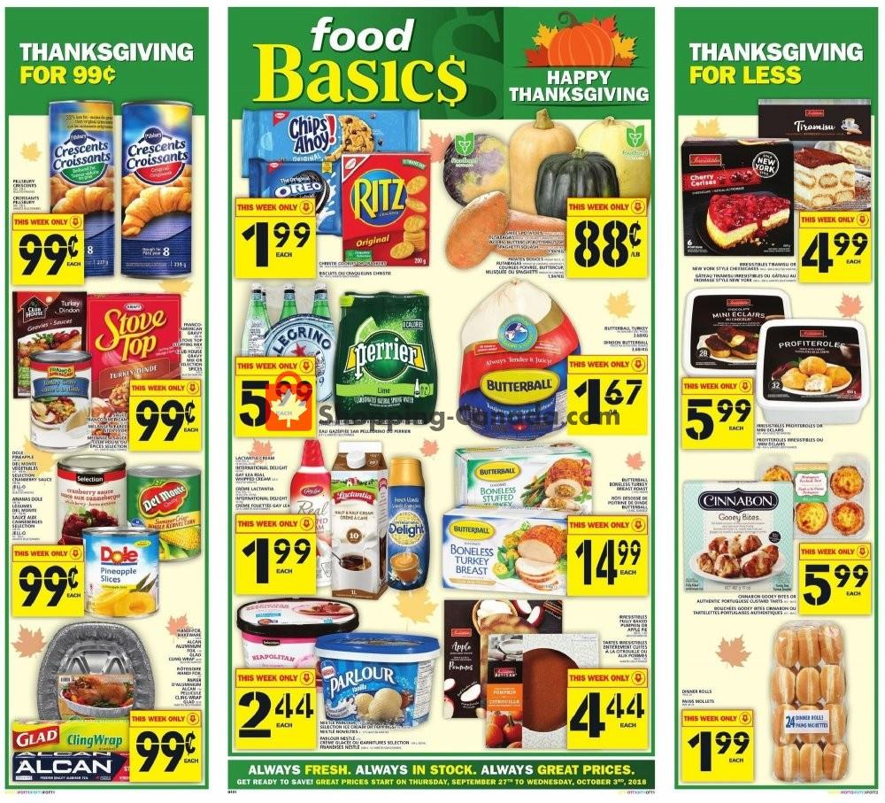 Flyer Food Basics Canada - from Thursday September 27, 2018 to Wednesday October 3, 2018