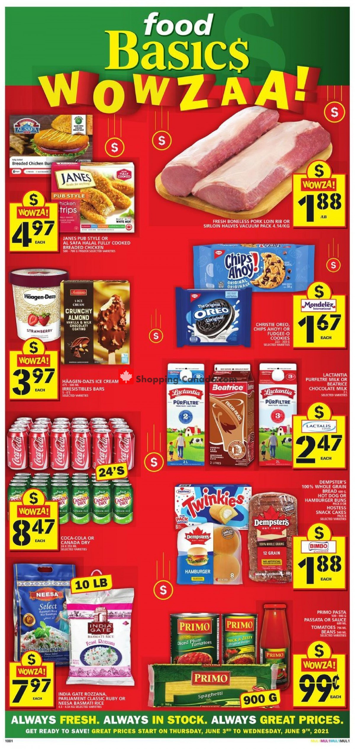 Flyer Food Basics Canada - from Thursday June 3, 2021 to Wednesday June 9, 2021