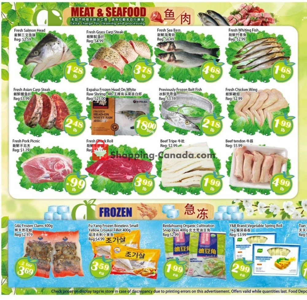 Flyer Food Depot Supermarket Canada - from Friday July 12, 2019 to Thursday July 18, 2019