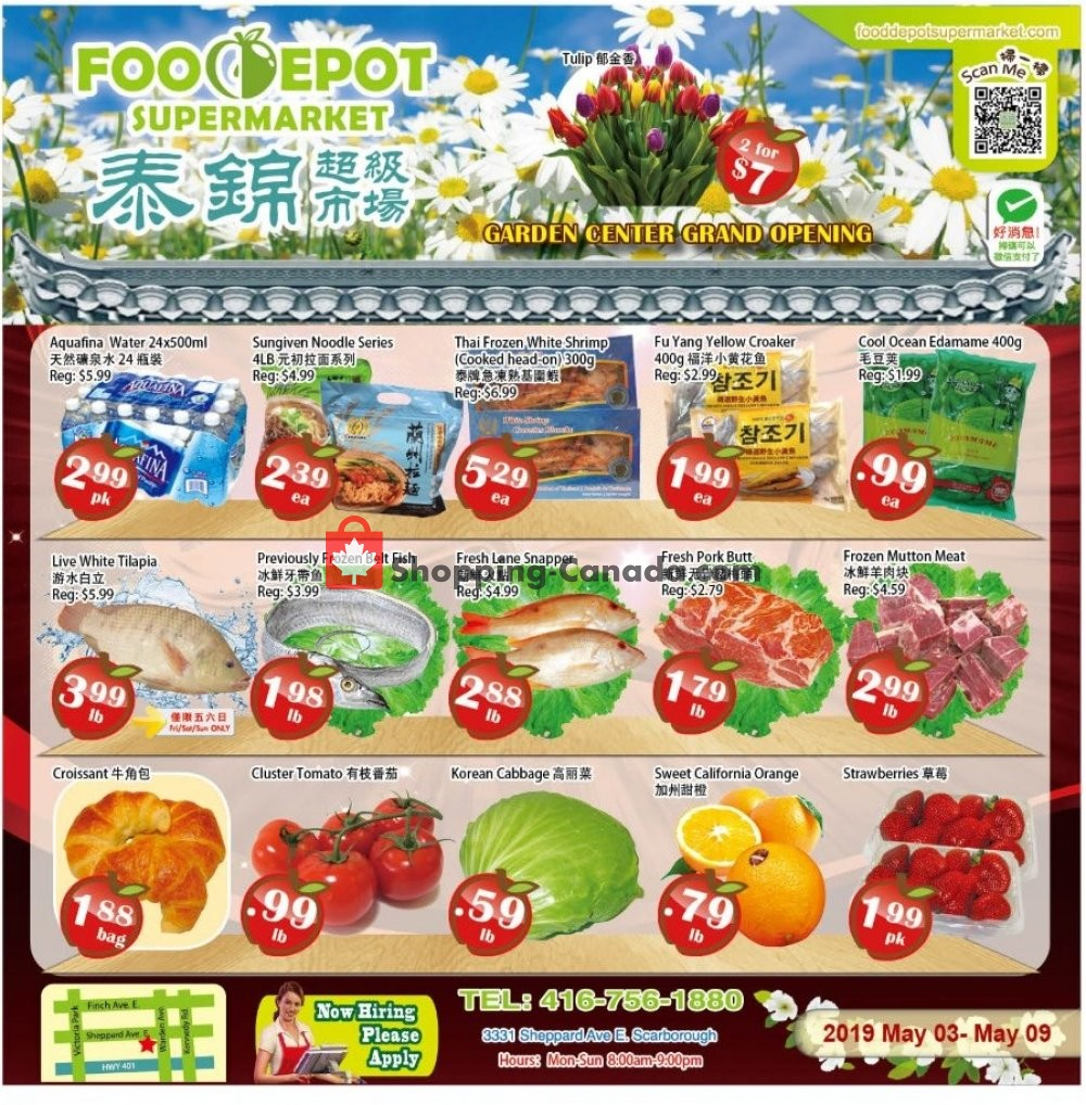 Flyer Food Depot Supermarket Canada - from Friday May 3, 2019 to Thursday May 9, 2019