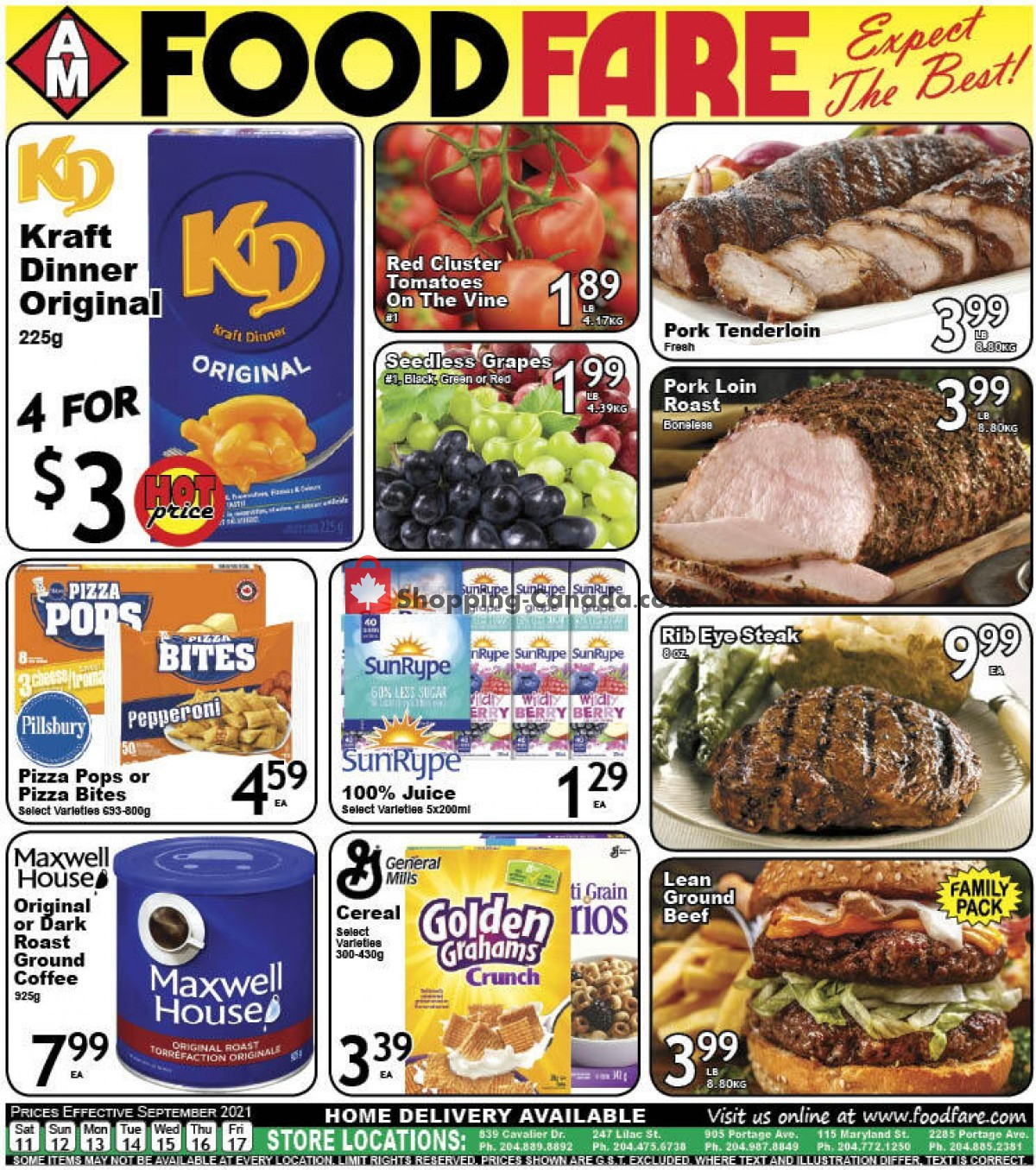 Flyer Food fare Canada - from Saturday September 11, 2021 to Friday September 17, 2021