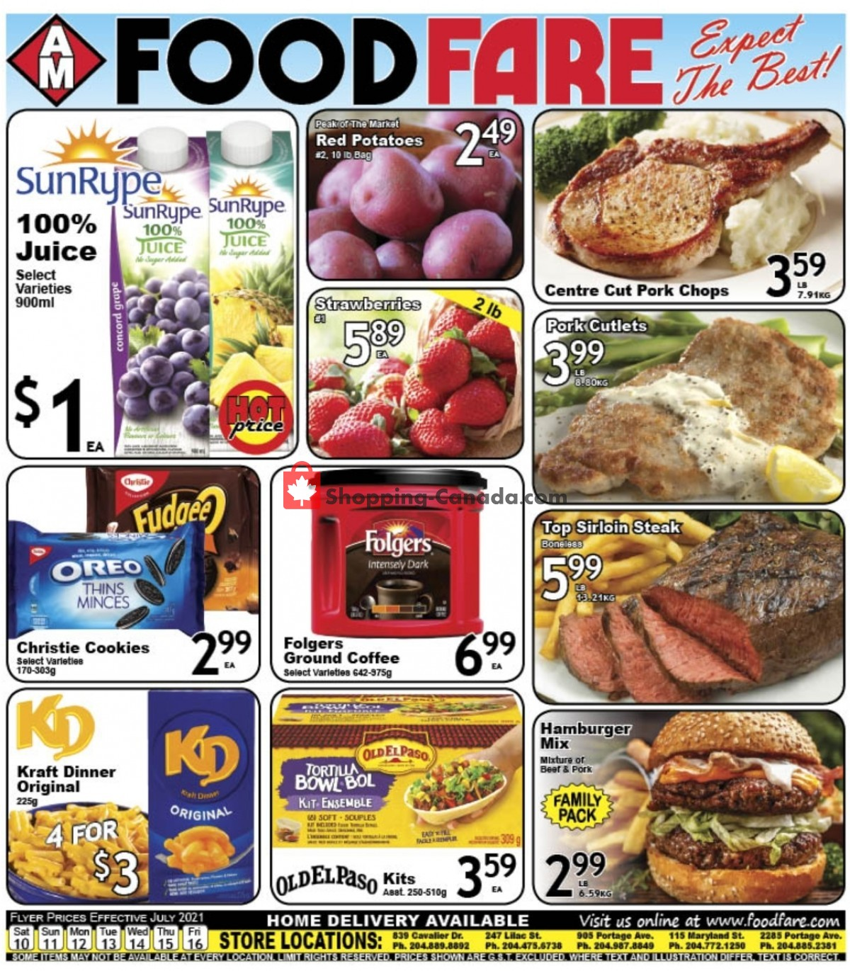 Flyer Food fare Canada - from Saturday July 10, 2021 to Friday July 16, 2021