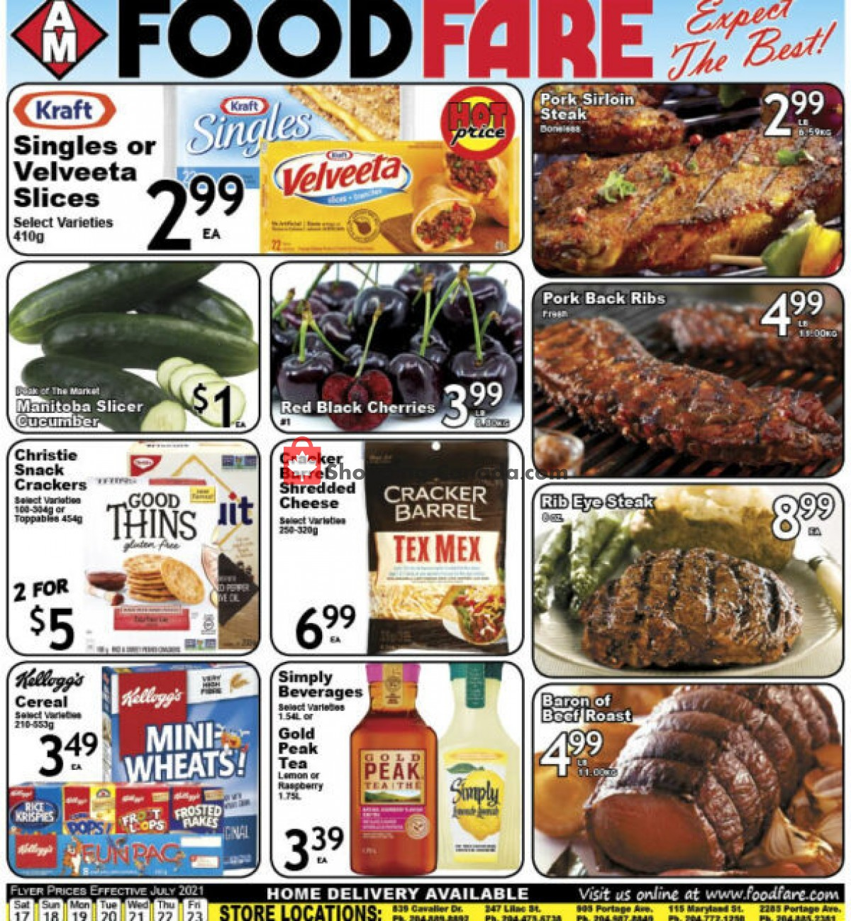 Flyer Food fare Canada - from Saturday July 17, 2021 to Friday July 23, 2021