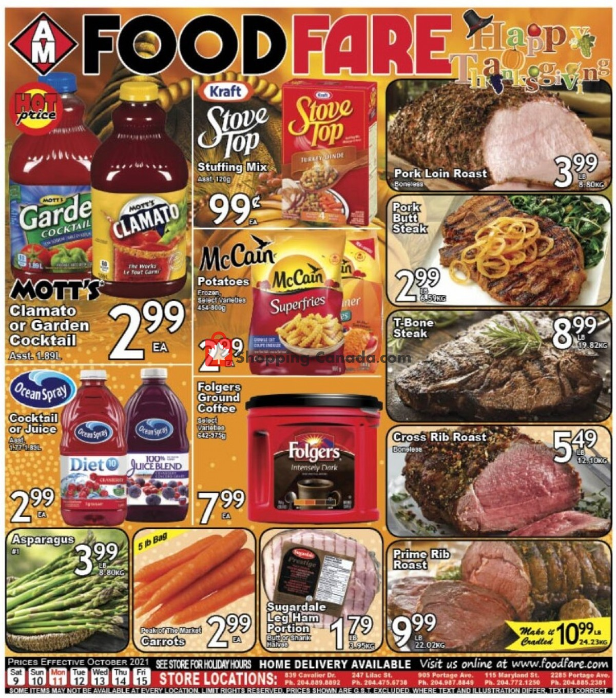 Flyer Food fare Canada - from Saturday October 9, 2021 to Friday October 15, 2021