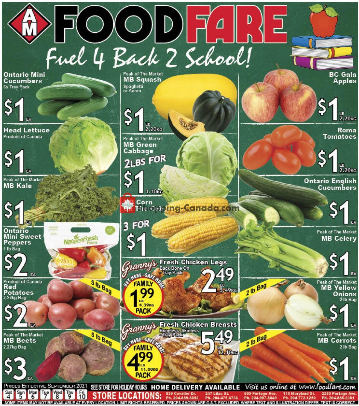 Flyer Food fare Canada - from Saturday September 4, 2021 to Friday September 10, 2021