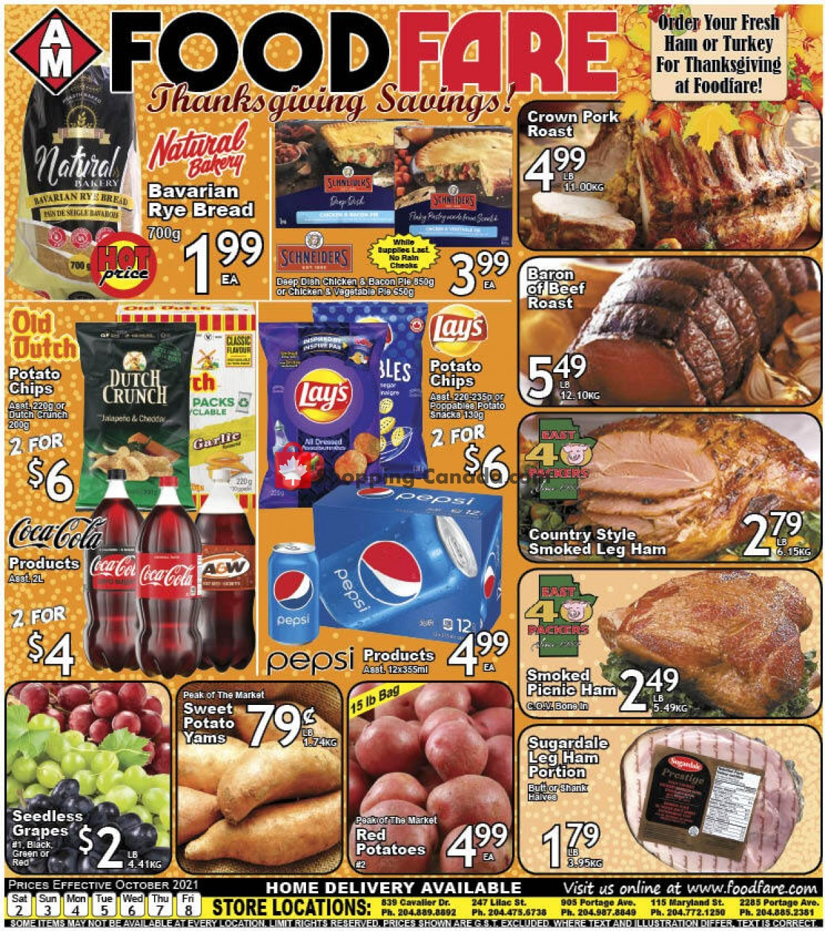 Flyer Food fare Canada - from Saturday October 2, 2021 to Friday October 8, 2021