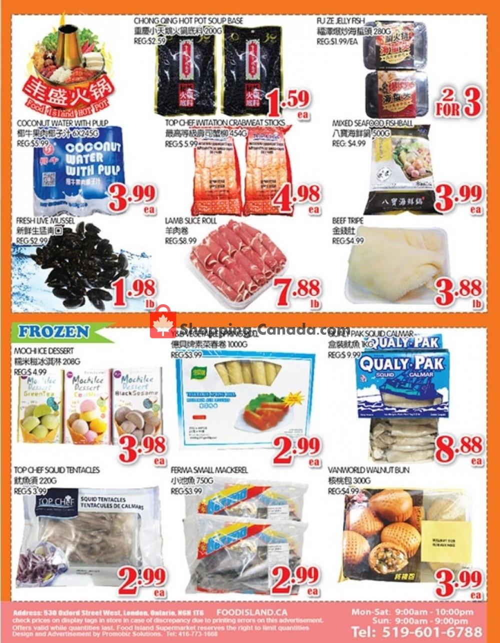 Flyer Food Island Supermarket Canada - from Friday November 8, 2019 to Thursday November 14, 2019