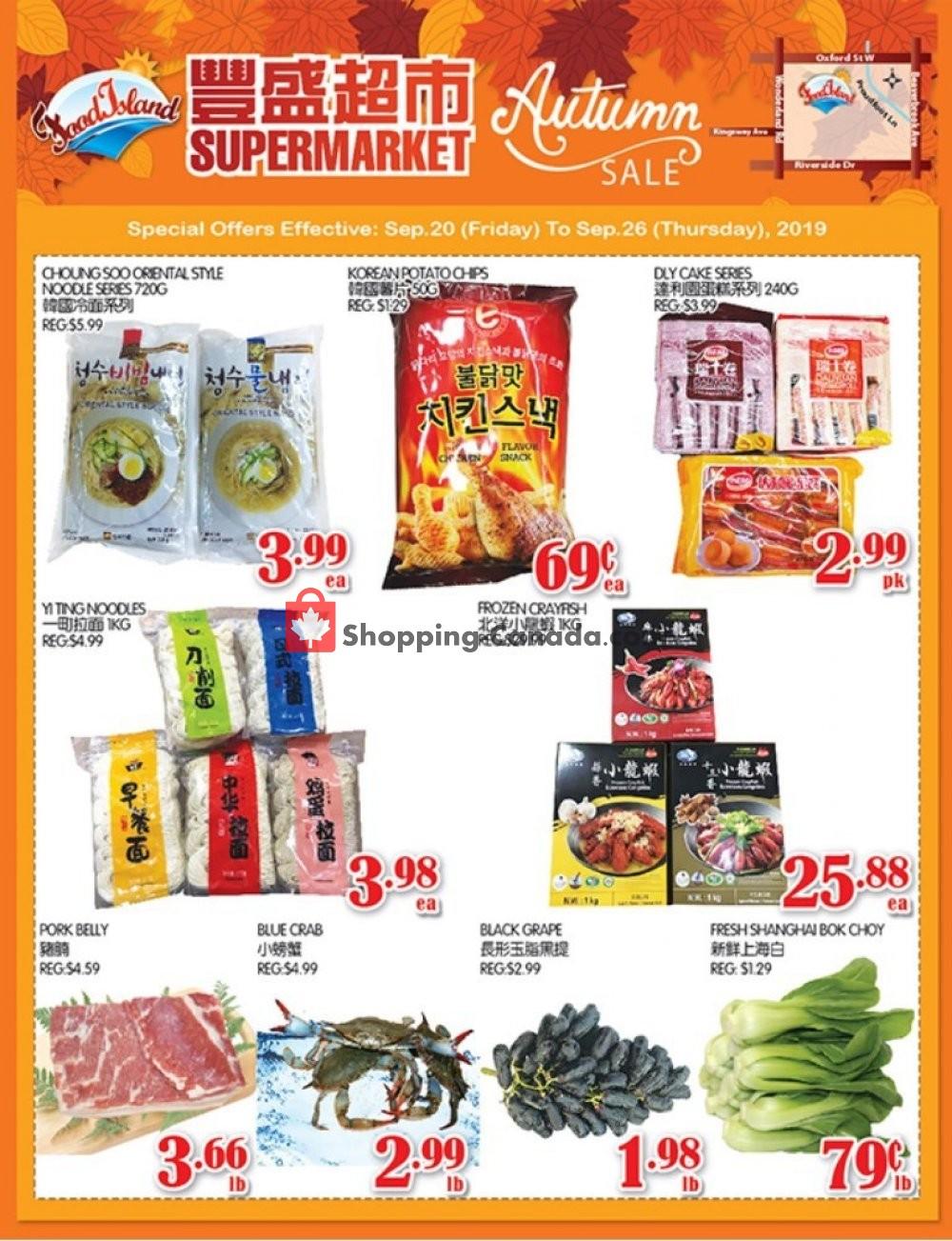 Flyer Food Island Supermarket Canada - from Friday September 20, 2019 to Thursday September 26, 2019