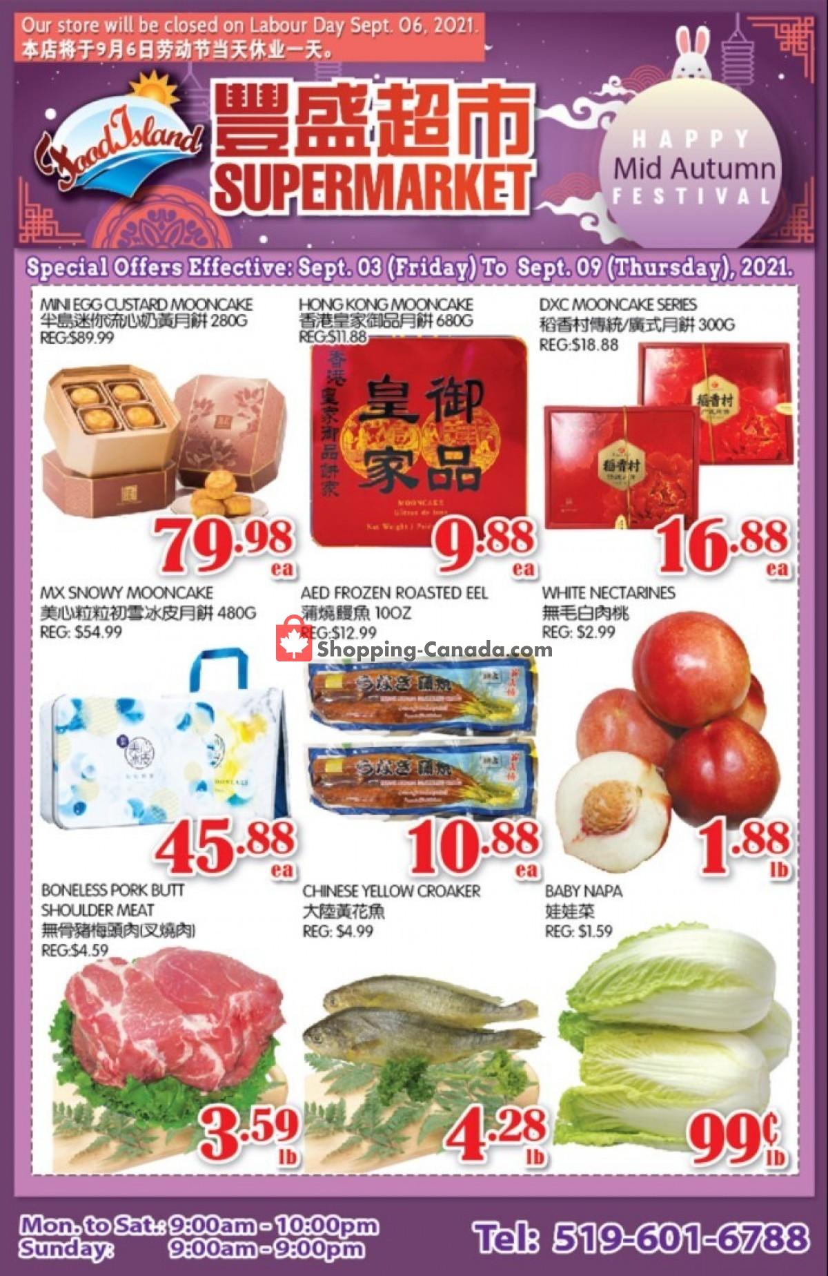 Flyer Food Island Supermarket Canada - from Friday September 3, 2021 to Thursday September 9, 2021